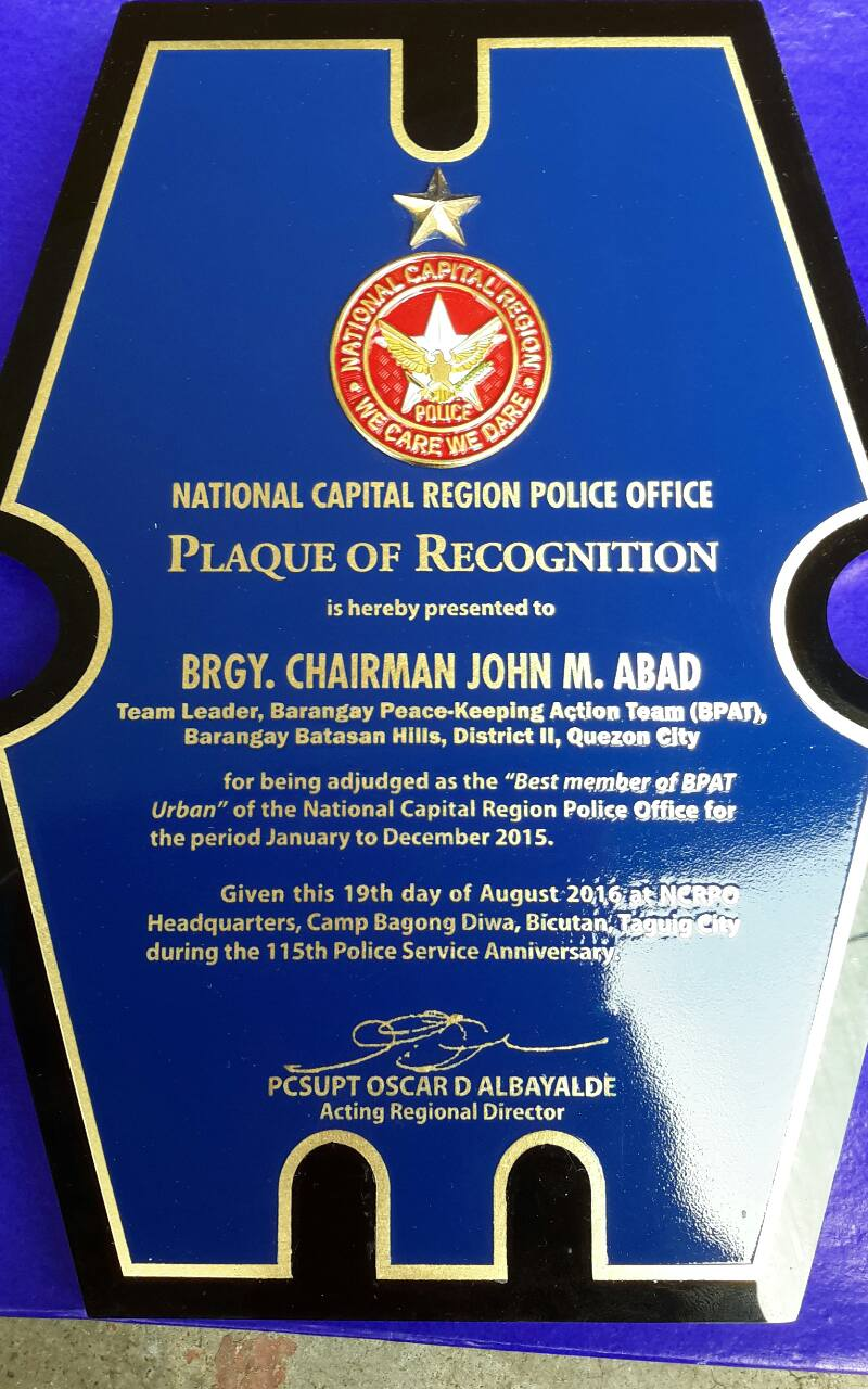 NCRPO awards Batasan Hills for being Most Outstanding BPAT (19)